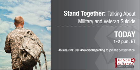 Registration still open for today's 1PM #SuicideReporting Military & #Veteran Suicide Panel http://t.co/9g67Ao3o4Y http://t.co/wSkeEwApWI