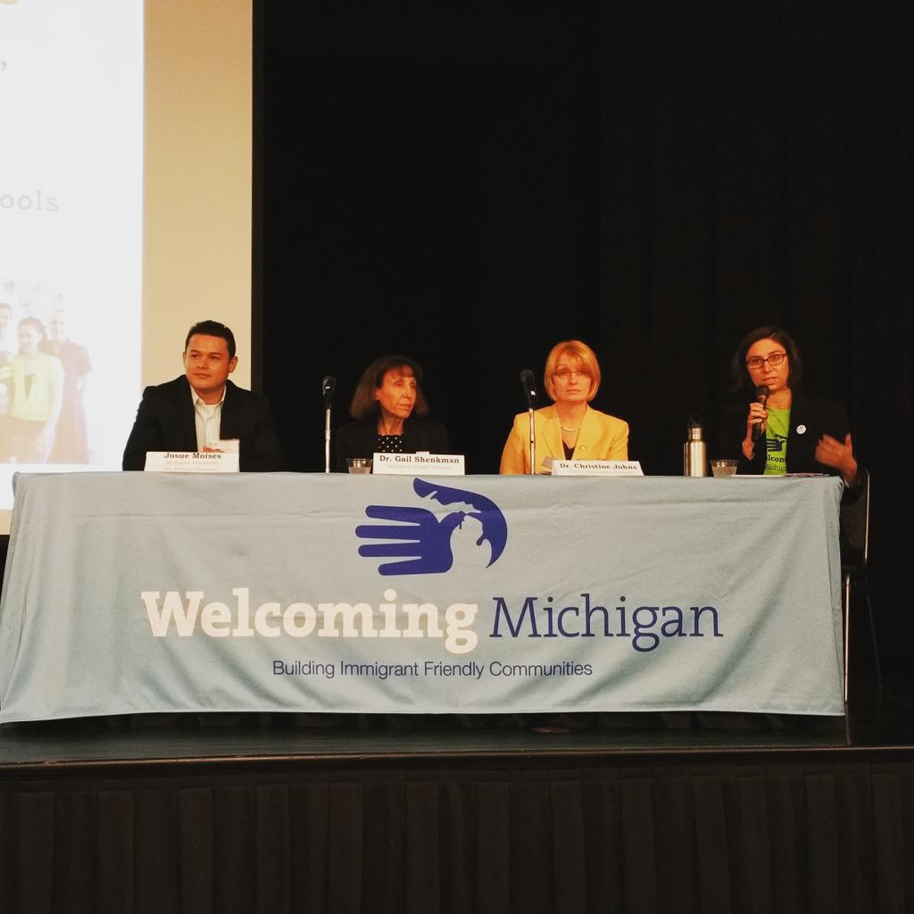 #welcomingschools #WelcomingMI panel on #TuitionEquality  #SealofBiliteracy  Dearborn & Utica schools. @for_tuition http://t.co/POCVN9EtjV