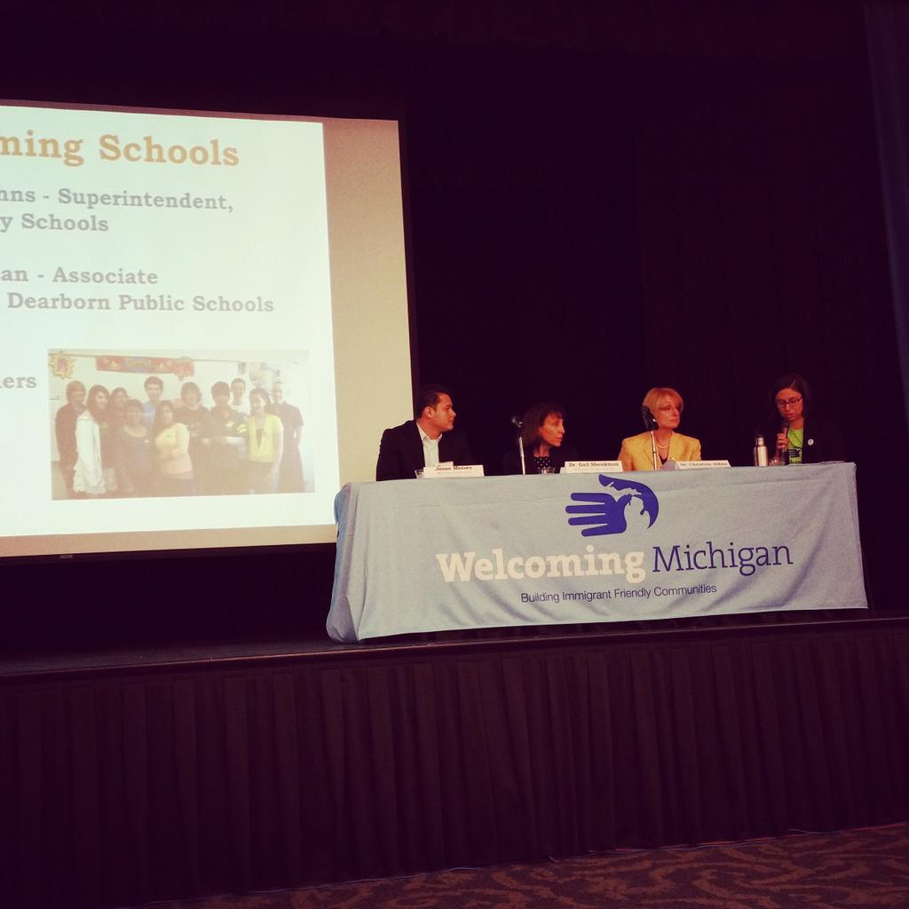 #welcomingschools #WelcomingMI panel on #TuitionEquality  #SealofBiliteracy  Dearborn and Utica schools @for_tuition http://t.co/d0cOf7MDt9