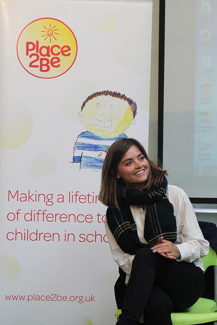 Yesterday @Jenna_Coleman_ visited @SurreySqSchool as our new ambassador to hear more about our work from the children http://t.co/AcrtJJpcAO