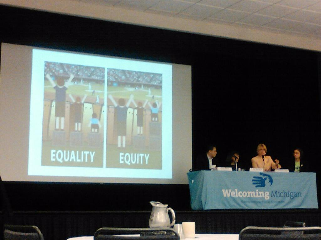 Welcoming schools - excellent panel at Welcoming Michigan. #WelcomingMI #equality #education http://t.co/MqhMUi9NQR