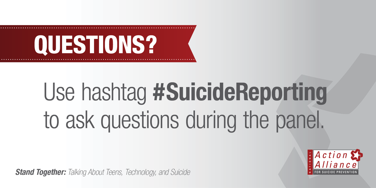 If you have a question for one of the #military and #Veteran #suicide panelists, tweet it using #SuicideReporting. http://t.co/0s1FLRAhRQ