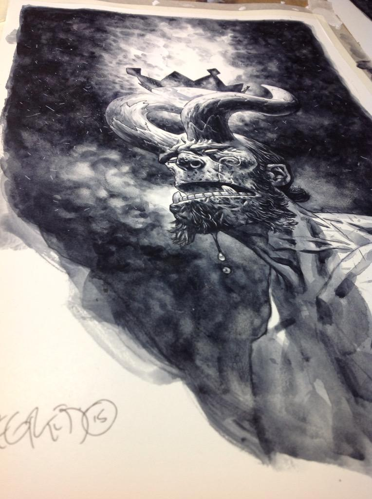 Heres another, kind of the counterpoint to the first... #hellboy http://t.co/nwkp8fgdhv