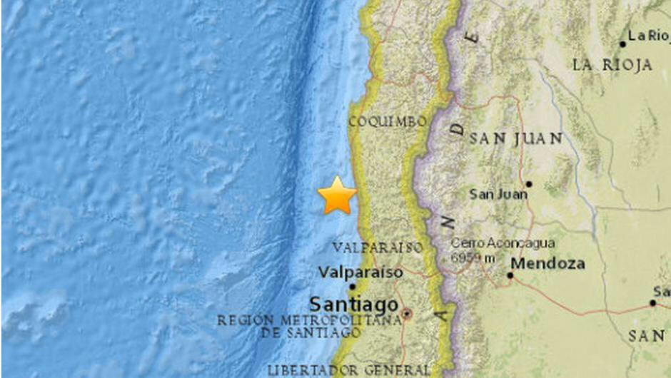 Terremoto M7,9 in Cile, allarme Tsunami.
