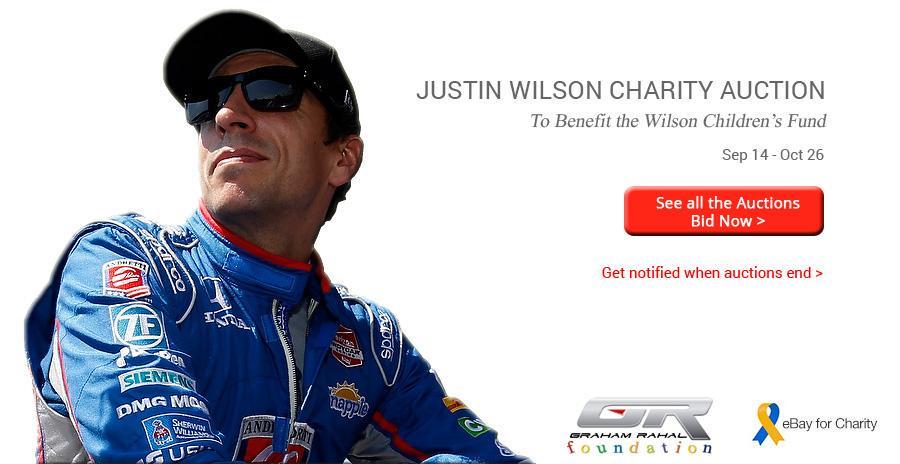 The #badasswilson Justin Wilson @ebay @ebaygivingworks  auction is revving up w/ @GrahamRahal  http://t.co/HhzIobpHBz http://t.co/WjfihdeZPx