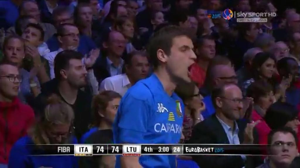 Euro Basket: Italia-Lituania 85-95, gli azzurri si fermano ai quarti di finale.