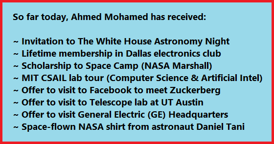 Ahmed Mohamed #Science Update. @IStandWithAhmed #IStandWithAhmed  Career locked in.  ;) http://t.co/aF3wuNvcRy