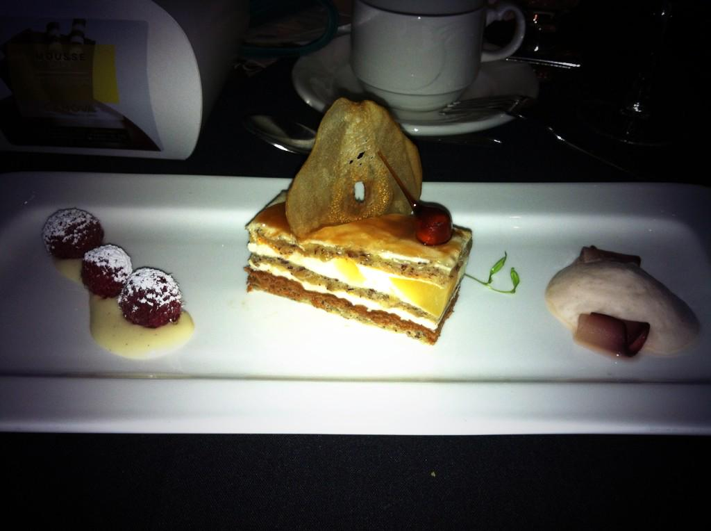 The finale: Pear & hazelnut cake from the @FairmontMAC. Scrumptious! #Feastival27 #yegfood http://t.co/RaGtxSuym8