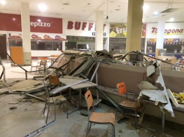 I primi danni del terremoto in Cile del 16 settembre 2015.