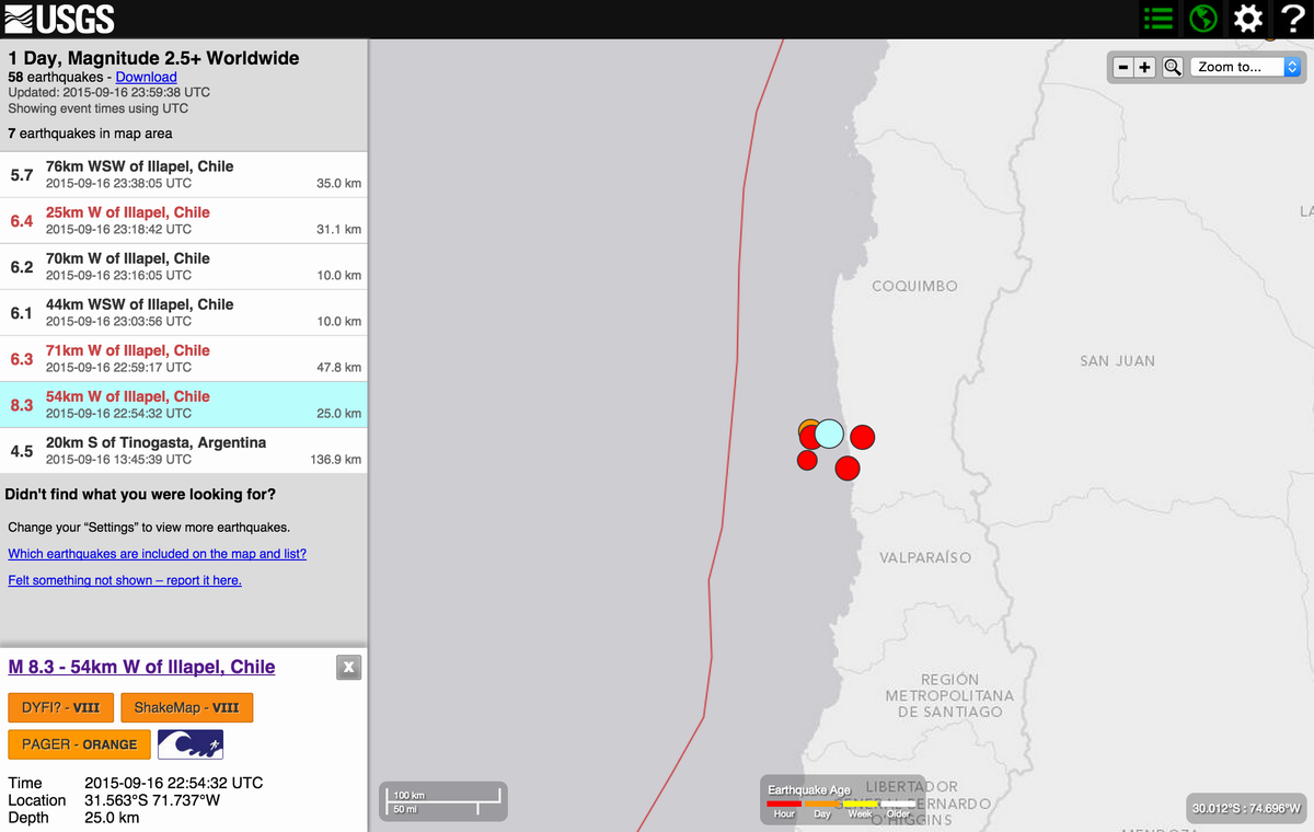 Current view M8.3 Chile event and current aftershocks at http://t.co/RkDDCNWoJk http://t.co/WhVYcIMSOT