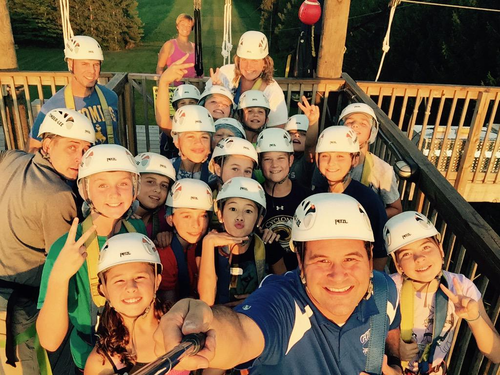 MCS at Outdoor Ed!  Camp Timber-Lee.  About to zip line! @Geneva304 #geneva304 http://t.co/kl3hi4UaNc