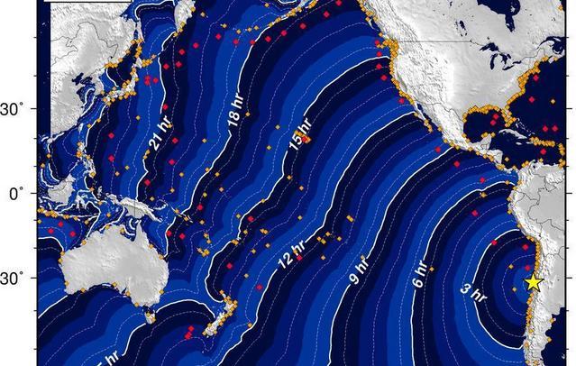 1960年のチリ地震の津波の高さが意外とヤバイ。今回の地震は前回より規模が小さいが、油断は禁物かも・・・。 ハワイ:10.7m  築地:0.1m   高知市:3.1m 浦河町:3.2m 女川町:4.2m  三陸海岸:6.4m http://t.co/hTZxAREymj