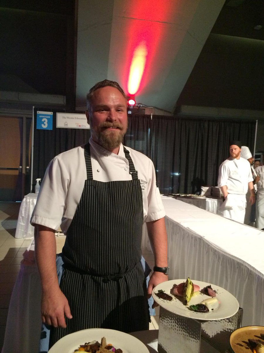 Proudly local is @OFlynnRyan, working with birch syrup because he can. #yegfood #feastival27 #ejlive http://t.co/qTrFkGThvF