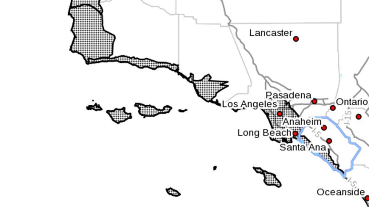 UPDATE: Map shows California coastline under tsunami advisory http://t.co/C777PYQW4o http://t.co/C1Y6GbvVj4
