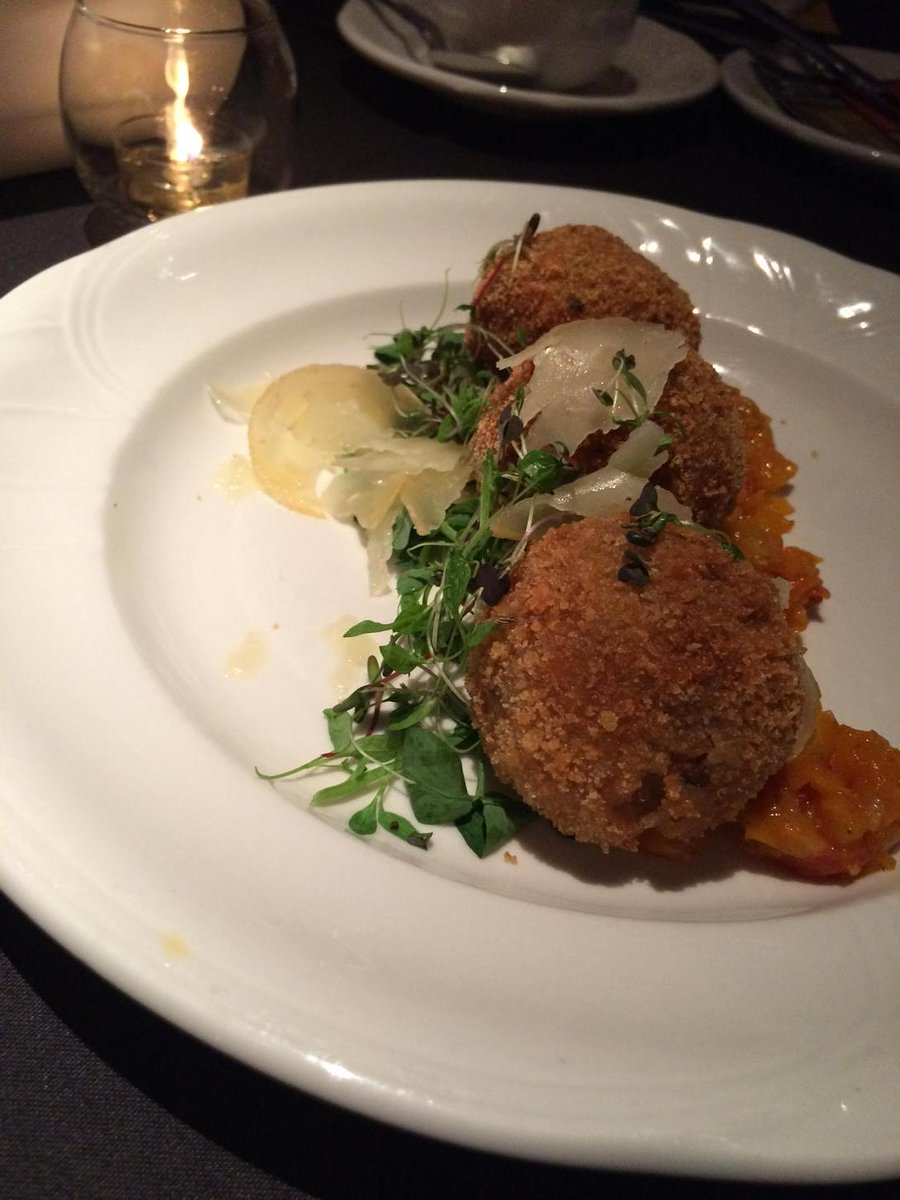 Arancini @SteveBuzak @FeastivalAFPA. Too pretty to eat but we must. #yegfood #ejlive #feastival27 http://t.co/vccgtvYV8b