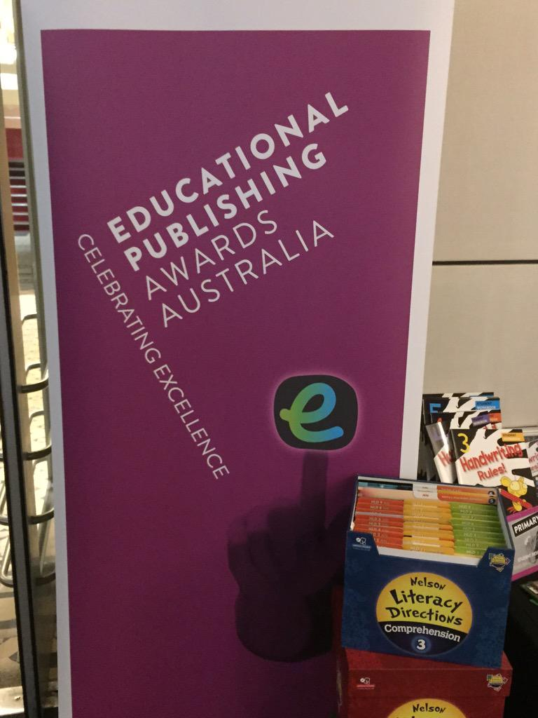 Ed Pub Awards in Melbourne tonight - Rob Randall discussing revision of the Australian Curriculum #epas15 http://t.co/mC7SAeRZ6Z