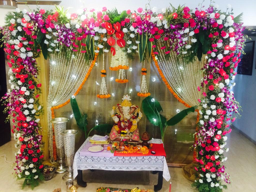 Siat 18 sanjai scorches the screen along with all for Artificial flowers decoration for ganpati at home