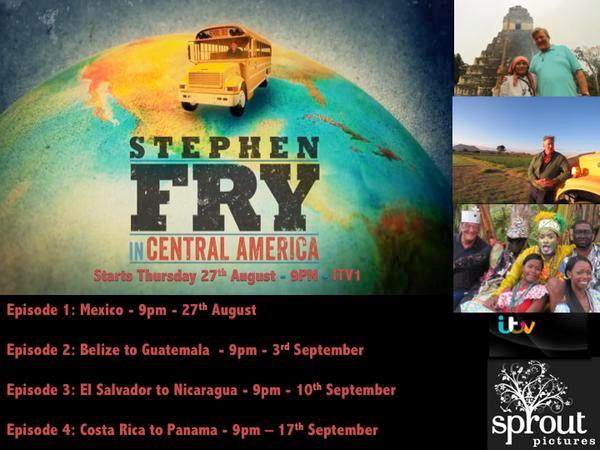 The final leg of the journey takes me from Costa Rica to Panama on @stephenfry in #CentralAmerica tonight 9pm @ITV http://t.co/5Z7yepHoUA