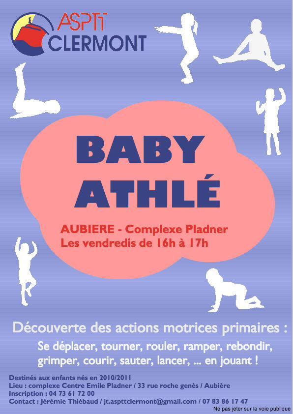 Nouveau concept du club #aspttclermont du #babyathle  #aubiere #baby #bebe #sport @villedaubiere @ASPTTAthle63pic.twitter.com/tse6a31rKn