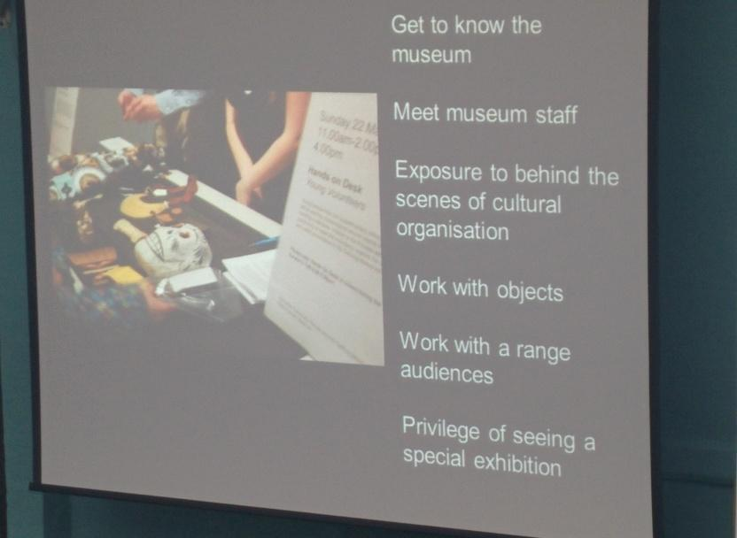 Things young people can gain from volunteering at a museum - Koula from @britishmuseum #teenworkshop MW http://t.co/1LWEnC05To