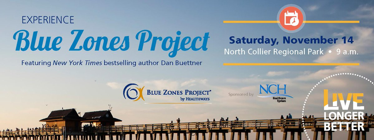 Help us to kick off @BlueZones Project! Come to the North Collier Regional Park on 11/14 at 9 a.m. http://t.co/L9arASMZ0n