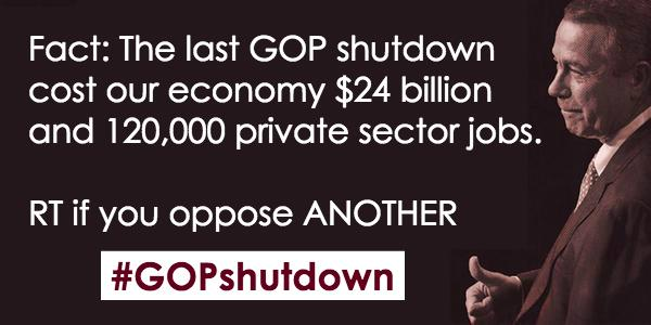 .@SpeakerBoehner, Americans do not want a repeat of the '13 #GOPshutdown! They want a budget agreement! http://t.co/2qm0F8jkza