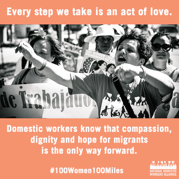 #100Women100Miles stands with the global mvmnt for compassion & dignity. #refugeeswelcome #nooneisillegal @adhikaar http://t.co/CPEiIwdebK