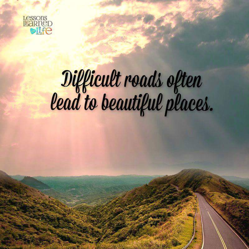 "Life Quotes Hd: Roscoe Ricarte On Twitter: """"Difficult Roads Often Lead To"