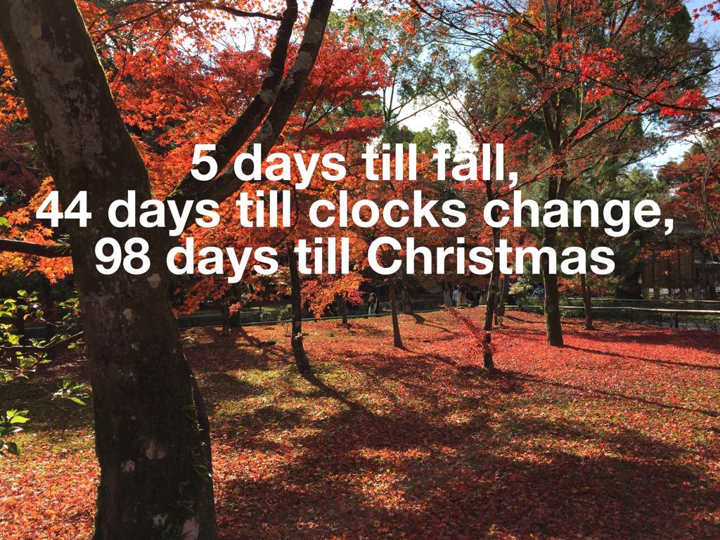 But who's counting?  I just DID! #fall #dst #xmas http://t.co/7TOnyOik6F