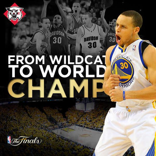 Davidson is proud to welcome home today @NBA MVP @StephenCurry30 #SC30Homecoming #CatsAreWild. http://t.co/70NUGXMilH