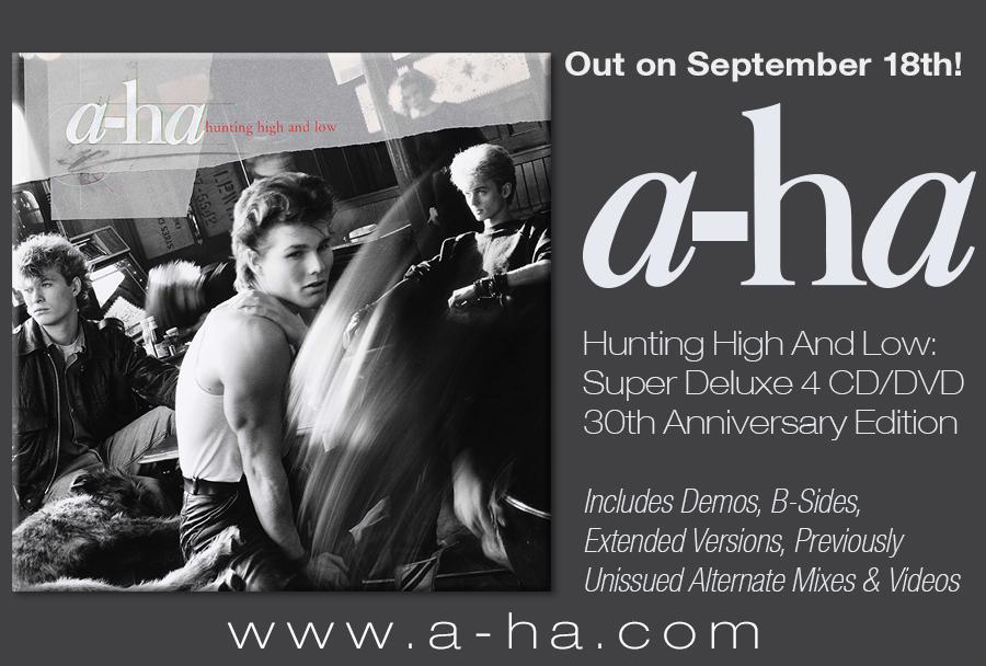 OUT TOMORROW - the 30th Anniversary Super Deluxe edition of 'Hunting High and Low'! http://t.co/uf14vVrrxj