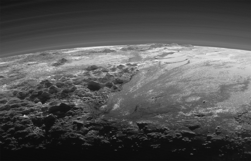This is a sunset over #Pluto. Just let that sink in for a bit. A colossal achievement. http://t.co/KqgFpChILc http://t.co/WjvZa648NS