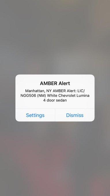 RT @xoxoashleyadams: PLEASE EVERYONE RT!!!! #AmberAlert #Manhattan #WhiteChevrolet http://t.co/PCLog