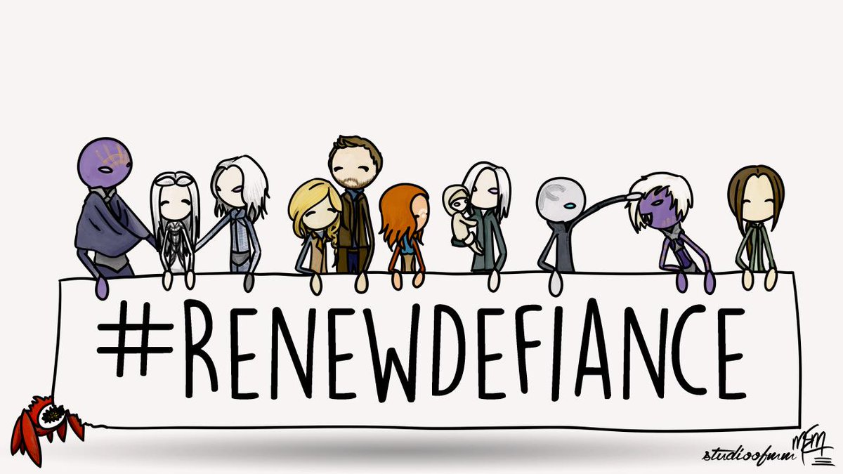 Check out the great artwork! What  a long wait to hear whether #Syfy will #RenewDefiance http://t.co/M0eCV300fM http://t.co/xu9a9xIx5W