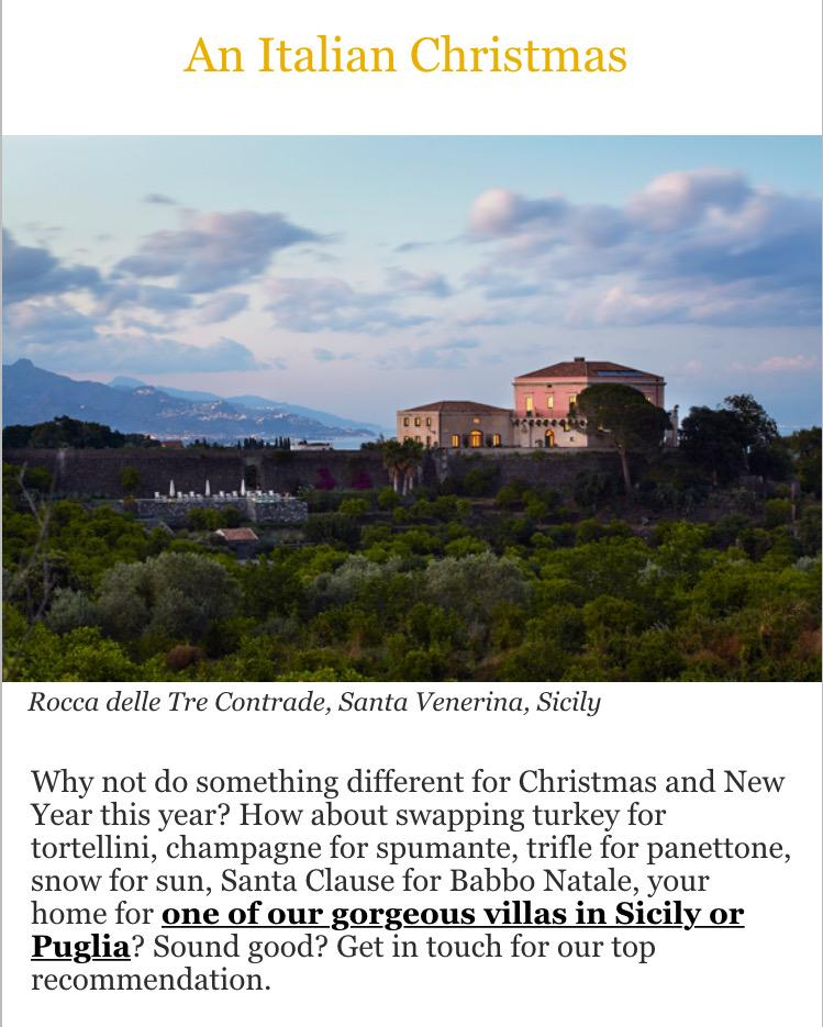 #Christmas2015 or #newyear in #Sicily? Get your own #hideaway #villa http://t.co/BS9ujWnplT #wanderlust @ThinkVillas