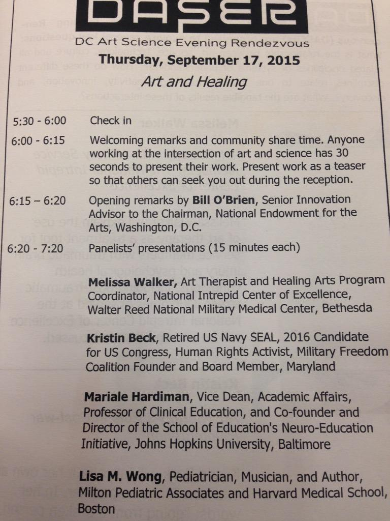 Back at #DASER for a talk on #ArtsinHealth @CCACP http://t.co/mtdOHT1NMk