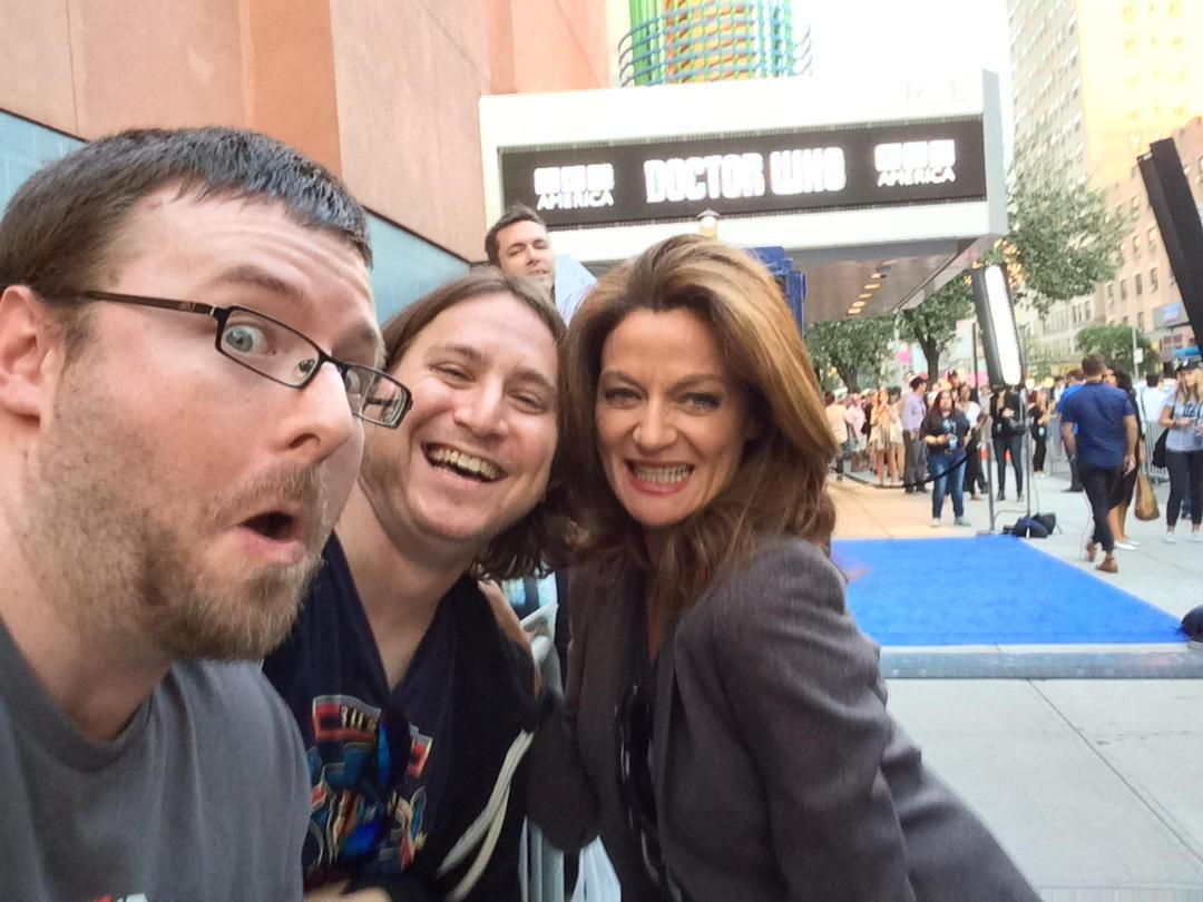 Yup that's me and Michelle Gomez. Photo bomb by @JonnyAce. http://t.co/ZClw3Cfieb