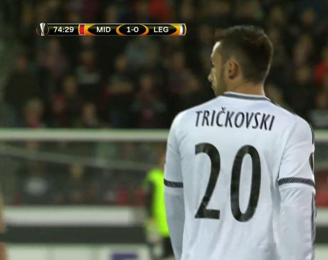 Trichkovski after he entered the game