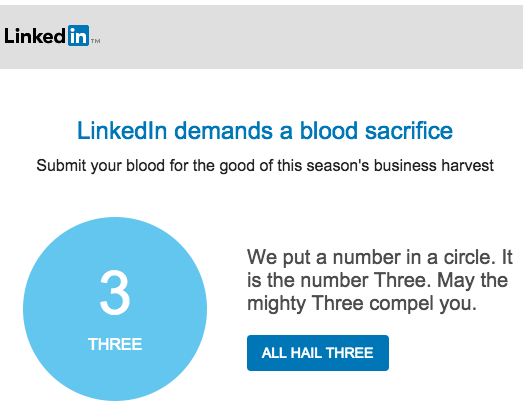 anyone else getting weird emails from @linkedin? http://t.co/ce6guDDcfW