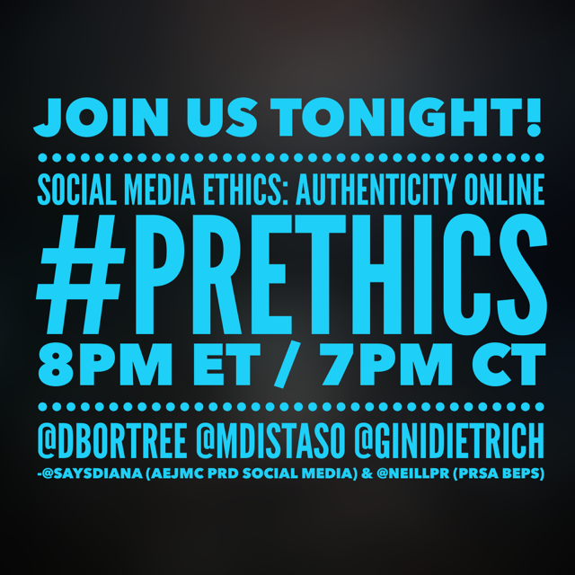 Thumbnail for #PRProfChat on #PREthics