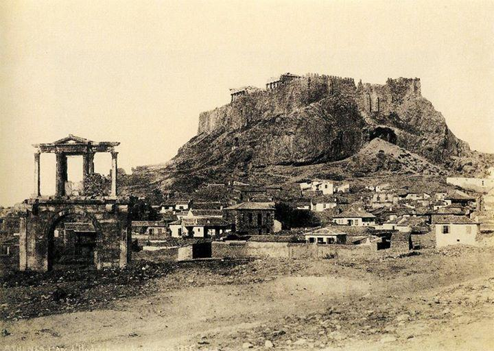 TODAY in 1834, Athens became the capital of Greece [Hadrian's Arch & Acropolis #Photo:A.N.Normand, #BM #PhotoArchive] http://t.co/BOQxLC6kJt
