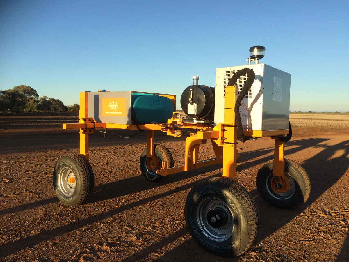 Meet swarmbot#3 shd be killing weeds in Qld by December. Story on @SwarmFarm & @CampbellNewman @abclandline Sunday http://t.co/kafmEOWWIe