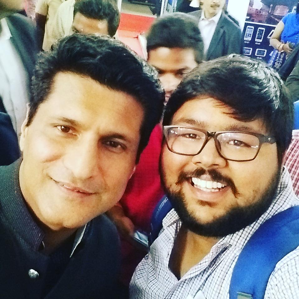 Selfie with the Gadget Guru at India Gadget Expo, Hyderabad, 2015