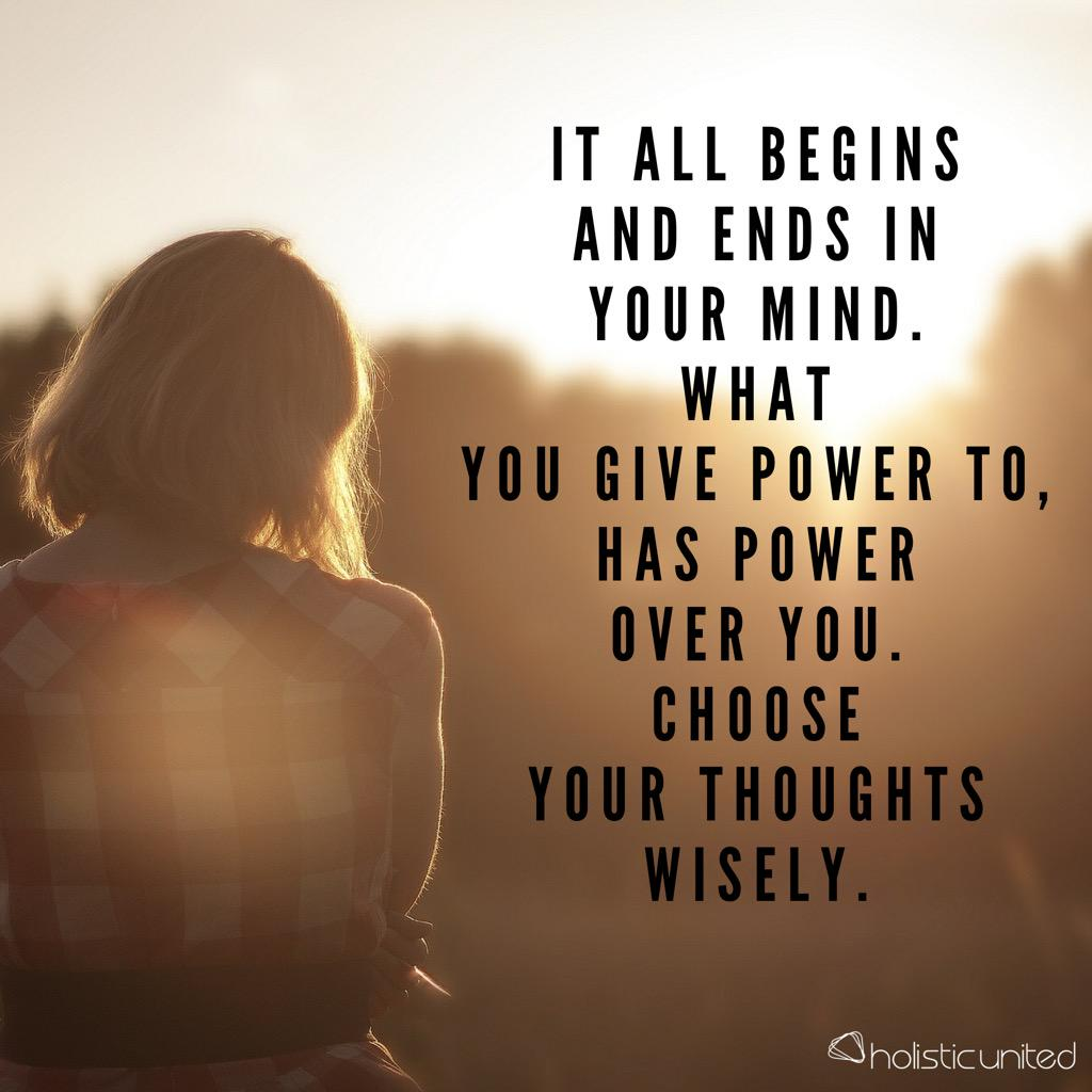 Choose your thoughts wisely! #intention #LawOfAttraction #gratitude #positivity #holisticliving #holisticunited http://t.co/JtAlikBMeI