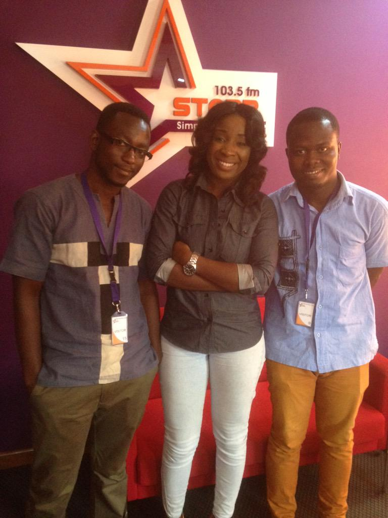 Thanks @Naa_Ashorkor @Starr1035Fm for the interview. @AfroModTrends_ @UtopiaWishlist #Nvday15 http://t.co/xlFCIqf8Tb