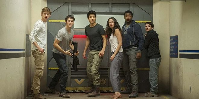 "il film al Cinema ""Maze Runner - La Fuga"" con Dylan O'Brien (New York, 26 agosto 1991)."