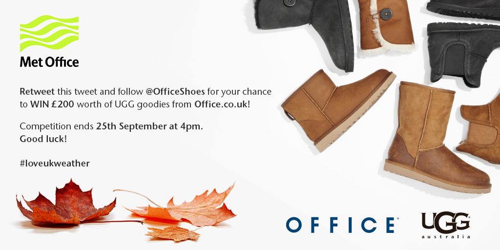 RT this tweet & follow @OfficeShoes for your chance to win! T&Cs: http://t.co/AOSYetkKeD #loveukweather