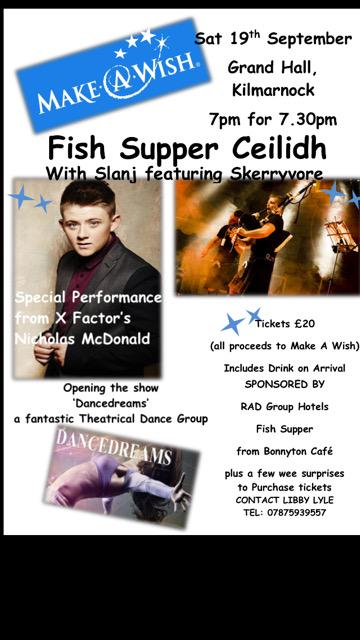 RT @Libbylyle1: Wishes coming true tomorrow in #Kilmarnock you cld be part of it with @nickymcdonald1 @BarrDancedreams @HayleyJ7 http://t.c…