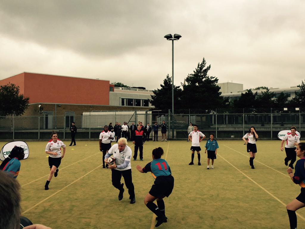 Fantastic visit to Haverstock School, Camden with @EnglandRugby to see the work of the All Schools programme 1/2 http://t.co/1Usx5Hf4rz