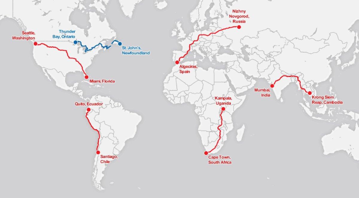 William B Davis On Twitter How Far Did Terry Fox Run Httptco - How far did i run map